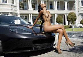 tersha makwiya, south african, black hair, model, beauty, sexy, naked, posing, tits, legs, necklace, lotus, sexy legs, heels, boobs, exotic, big tits, nipples, girl