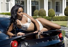 tersha makwiya, south african, black hair, model, beauty, sexy, tits, lotus, bra, panties, lingerie, white lingerie, white bra, white panties