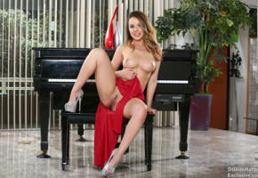 dillion harper, trimmed pussy, sexy, seductive, pussy, labia, piano, boobs, tits, smile