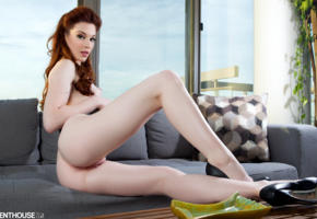 stoya, porn star, readhead, shaved pussy, ass, pussy, labia, sexy legs, high heels