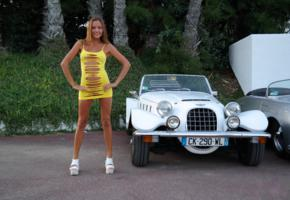 katya clover, clover, mango, caramel, mango a, brunette, dress, naked, car, tanned, pussy, smile