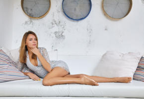 mango a, model, beauty, dress, couch, legs, tanned, non nude, katya clover