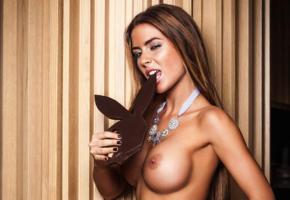 alexa varga, playboy, playmate, brunette, model, boobs, big tits, tanned