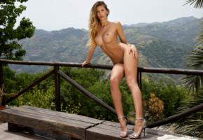 claudia, beauty, model, naked, tanned, sexy body, legs, tits, boobs, big tits, shaved, nude