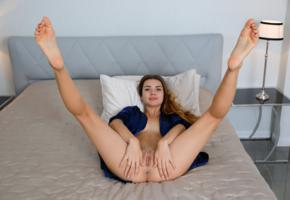 viva, georgia, susza k, sexy girl, adult model, smile, shaved pussy, pussy, labia, bed, ass, spreading legs, anus