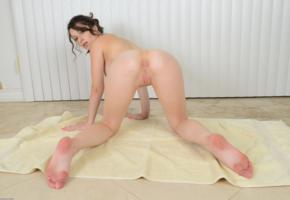 lacey channing, brunette, pornstar, feet, petite, spreading legs, ass, pussy, labia, anus, shaved pussy, doggy