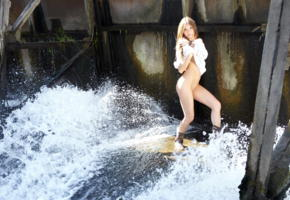 tory c, water fun, sweater, bottomless