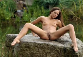 dominika, dominika c, dominika chybova, dominika a, hamburger pussy, meat curtains, pussy, labia, nude, spreading legs, landing strip, tits, nipples, wet