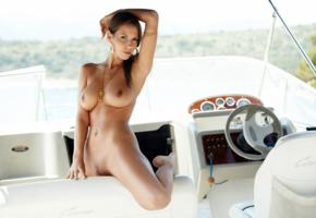 elizabeth ryan, lizzie ryan, avia, lizzie, brunette, boat, naked, boobs, big tits, nipples, tanned, pussy, spread legs, pierced navel, hi-q
