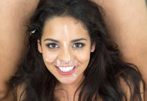 vienna black, facial, cute, smiling, cum on face, sperm, beautiful, hot, cumshot, cum, jizz, messy, smile, looking at viewer, sexy face, black hair, portrait