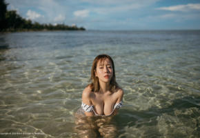 water, asian, boobs, hot, sexy, tits, sea, wet, big tits
