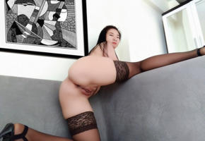 asian, amateur, nude, ass, pussy, labia, stockings