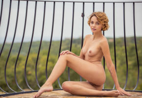 ariel, lilit a, ariela, rufina t, dirty blonde, outdoors, naked, boobs, tits, perky nipples, shaved pussy, labia, ass, smile, tattoo, hi-q