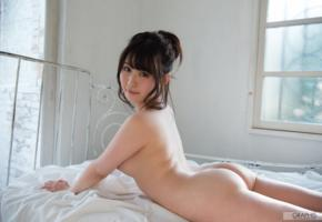 japanese girls, rin asuka, asian girls, asian, nude, tits, brunette, ass, bed, japanese