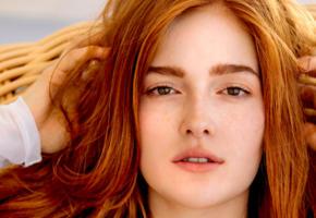 jia lissa, model, redhair, freckles, russian, beautiful, portrait
