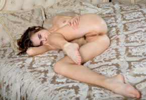 gracie a, gracie, angelina ballerina, anna netrebko, marion y, vivian b, model, brunette, pussy, trimmed pussy, labia, anus, ass, legs, bed, nude