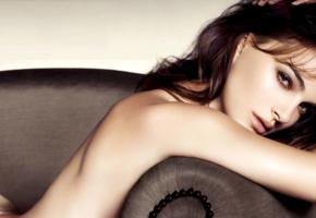 natalie portman, model, actress, brunette, sensual lips, long hair, portrait