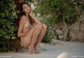 katrine pirs, small tits, outdoor, outside, tits, tanned, nude, legs, brunette