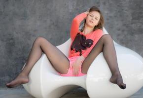girl, nylon, teen, cute, pantyhose, pink shorts, spreading legs, non nude, beata undine, beata