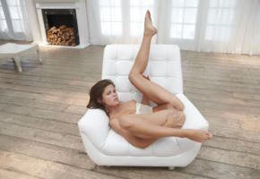 caprice, little caprice, marketa, caprice a, chair, chemise, boobs, tits, puffy nipples, shaved pussy, labia, spread legs, legs up, hi-q