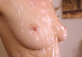 nancy a, nancy ace, jane f, erica, naked, closeup, soapy, boobs, tits, pink nipples, hi-q, nipples