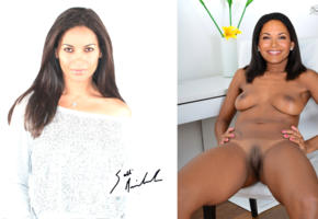 salli richardson, brunette, pussy, shaved, tan lines, smile, posing, actress, mature, compilation, collage, fake