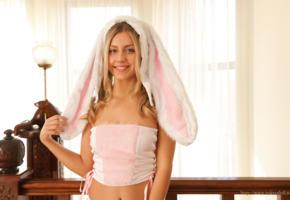 tokyo doll, brunette, cosplay, smile, pink, rabbit