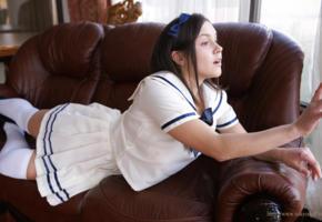 tokyo doll, brunette, cosplay, saylor, knee socks, skirt, schoolgirl