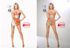 heidi klum, blonde, see thru, posing, photoshoot, model, compilation, collage, fake