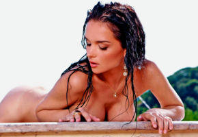 jenya d, wet, pool, brunette, big boobs, big tits, tanned, boobs, ass, wet hairs
