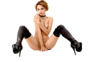 ariel, lilit a, ariela, rufina t, model, pretty, handbra, boots, high heels, latex, nude