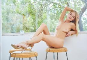 nancy ace, nancy a, jane f, erica, blonde, naked, boobs, tits, nipples, high heels, hi-q