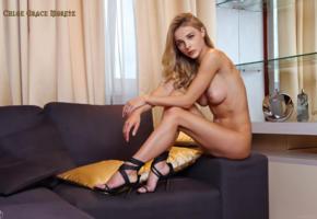 chloe grace moretz, heels, perfect legs, big tits, big naturals, blonde, fake, legs, tits, boobs