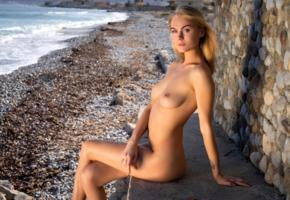 nancy ace, nancy a, jane f, erica, model, blonde, tits, boobs, tattoo, sea, ocean, nude, beach
