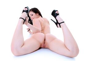 ass, pussy, 8k, nekane, labia, sexy ass, heels, brunette