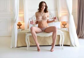 saloma, maxa, maxa z, morea, bra, boobs, tits, nipples, panties, lingerie, white lingerie, undressing
