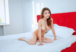 mila azul, pussy, shaved pussy, bed, boobs, big tits, hot