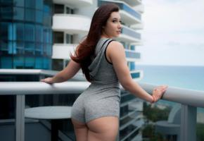 desy gato, ass, balcony, brunette, back, big ass, sexy, non nude