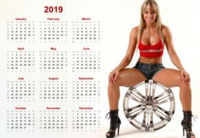 juliana salimeni, juju, brazilian, brazil, cleavage, latina, wheel, calendar, 2019, tanned, smile