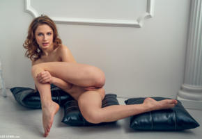 clarice a, clarice, elvira, shaved pussy, labia, pussy, ass, nude, brunette