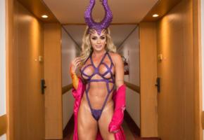 juliana salimeni, juju, brazil, brazilian, cleavage, boobs, carnival, maleficent, fantasy, cosplay