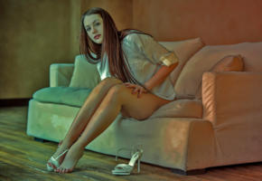 isabella, high heels, sexy, artwork, long legs