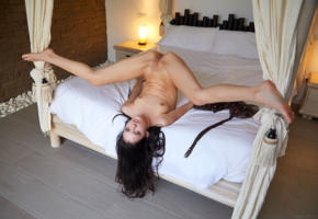 anie darling, annie darling, aneta, aneta l, ani darling, model, dark hair, long hair, small tits, tits, open legs, pussy, shaved pussy, labia, anus, legs, bed, bedroom, nude