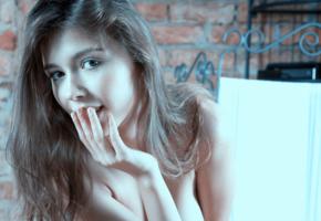mila azul, sexy, smile, 4k, brunette
