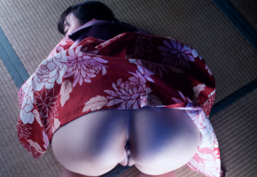rinka toda, ass, pussy, 4k, asian, brunette, shaved pussy, labia, anus, doggy