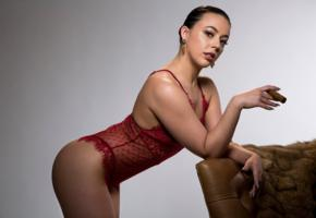 whitney wright, pose, sexy, girl, lingerie, see through, cigar