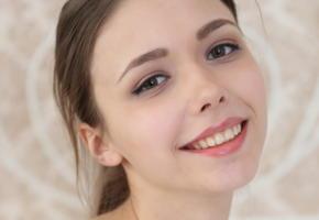 mila azul, brunette, smile, cute, face