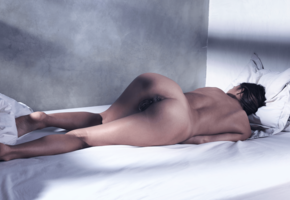 pussy, bed, tanned, brunette, meat curtains, labia, ass, dominika c, dominika, dominika chybova, dominika a, hamburger pussy, anus, legs, nude