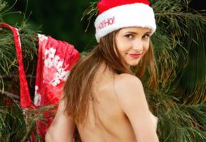 anya, christmas, smile, back, irina buromskih