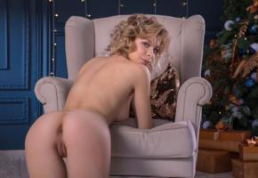 eva tali, blonde, nude, christmas tree, erotic, shaved, ass, pussy, labia, christmas, anus, doggy, tits, boobs, eva sugar, masha poplavskaya, pillow